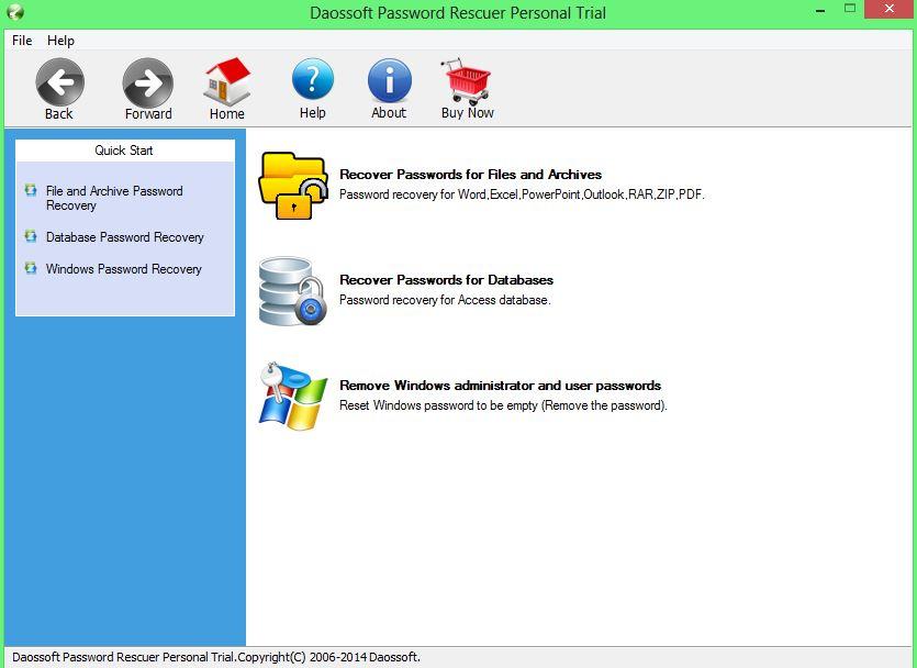Daossoft Password Rescuer tool by iseepassword
