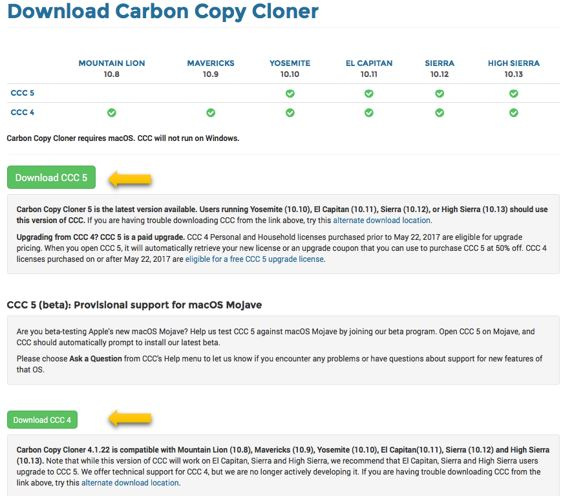 Carbon Copy Cloner For Mac Free Download (CCC5/CCC4)
