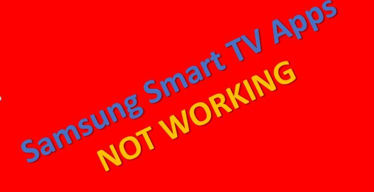 Samsung Smart TV Apps not Responding