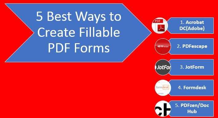 5 Best Ways to Create Fillable PDF Forms Free (How to Guide)