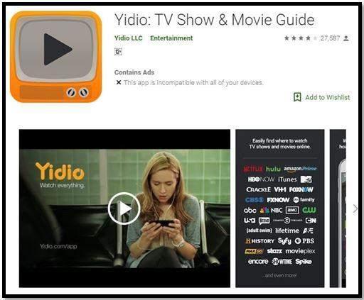 Yidio app